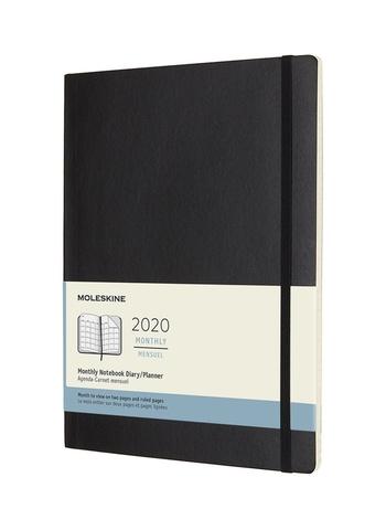 Měsíční diář Moleskine 2020 měkký XL