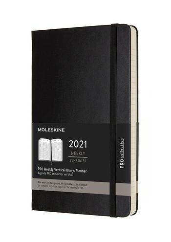 Vertikální PRO diář Moleskine 20201 tvrdý L