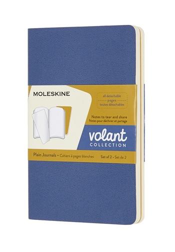 Volant zápisníky Moleskine 2 ks čistý modrý a žlutý S