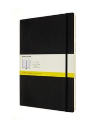 Zápisník Moleskine měkký čtverečkovaný černý A4