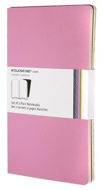 Volant zápisníky 2 ks, čistý, růžový L