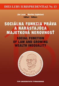 Sociálna funkcia práva a narastajúca majetková nerovnosť