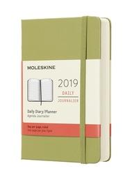 Diář Moleskine 2019 denní tvrdý zelený L