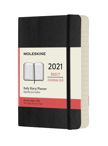 Diář Moleskine 2021 denní měkký černý S