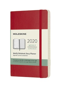 Plánovací zápisník Moleskine 2020 měkký červený S
