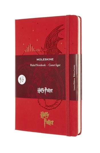 Harry Potter zápisník Moleskine linkovaný červený L