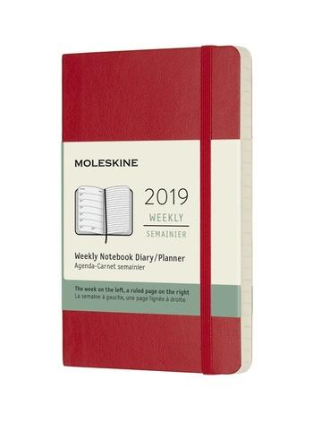 Plánovací zápisník Moleskine 2019 měkký červený S