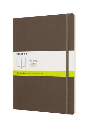 Zápisník Moleskine měkký čistý hnědý XL
