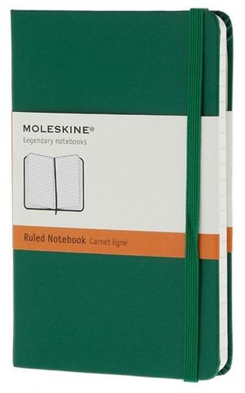 Zápisník, linkovaný, světle zelený S