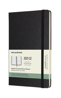 Horizontální diář Moleskine 2021-2022 tvrdý černý L