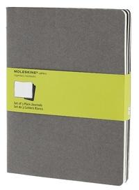 Sešity 3 ks čisté sv. šedé XL