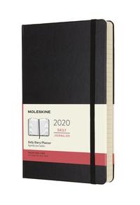 Diář Moleskine 2020 denní tvrdý černý L