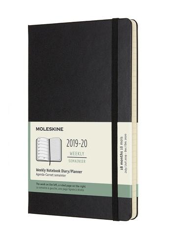 Plánovací zápisník 2019-2020 tvrdý černý L