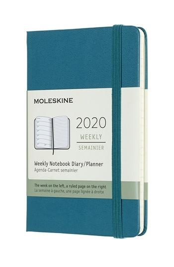Plánovací zápisník Moleskine 2020 tvrdý zelený S