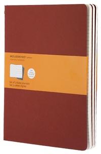 Sešity 3 ks linkované cervené XL