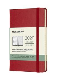 Plánovací zápisník Moleskine 2020 tvrdý červený S
