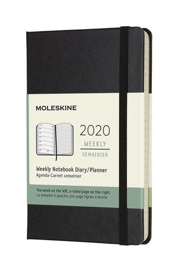 Plánovací zápisník Moleskine 2020 tvrdý černý S