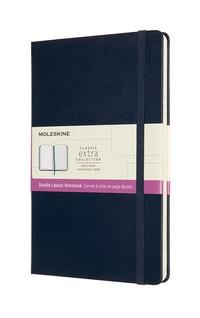 Zápisník Moleskine tvrdý linkovaný-čistý modrý L