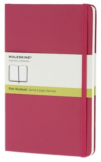 Zápisník, čistý, tmavě růžový L