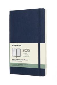 Plánovací zápisník Moleskine 2020 měkký modrý L