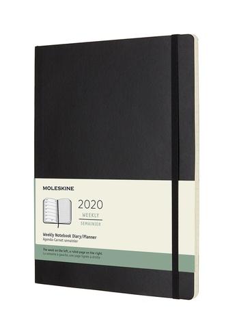 Plánovací zápisník Moleskine 2020 měkký černý XL