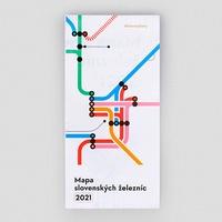 Mapa slovenských železníc 2021