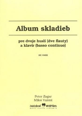 Album skladieb pre dvoje huslí (dve flauty) a klavír (basso continuo)