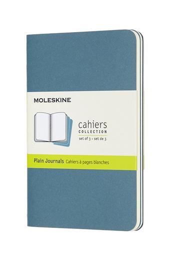 Sešity Moleskine 3 ks čisté modré S