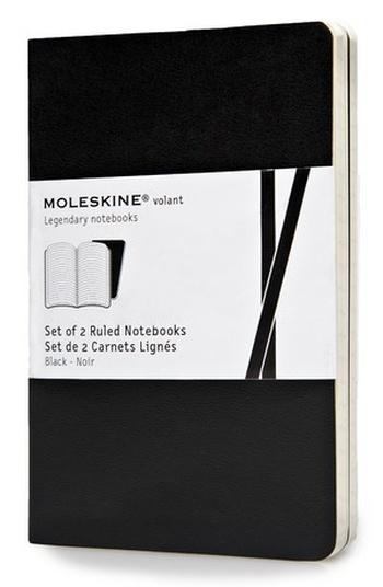 Volant zápisníky 2 ks, linkovaný, černý S