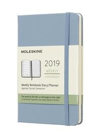 Plánovací zápisník Moleskine 2019 tvrdý světle modrý S