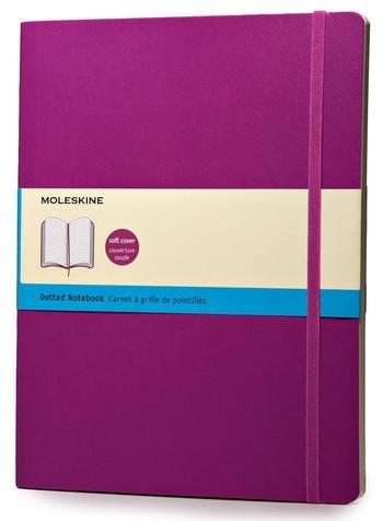 Zápisník měkký tečkovaný, růžový XL