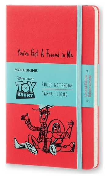 Toy Story zápisník linkovaný červený L