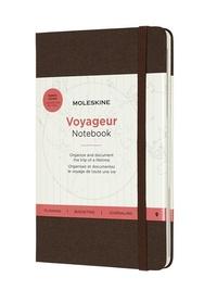 Zápisník Moleskine Voyageur hnědý