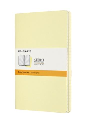 Sešity Moleskine 3 ks linkované žluté L