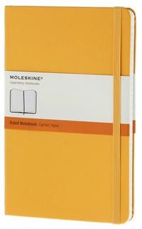 Zápisník, linkovaný, žlutooranžový L