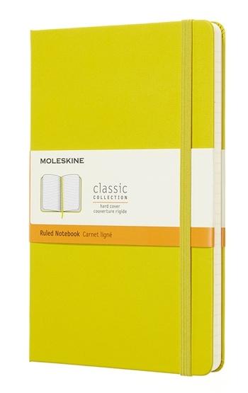 Zápisník tvrdý linkovaný žlutý L