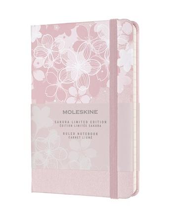 Sakura zápisník Moleskine linkovaný růžový S
