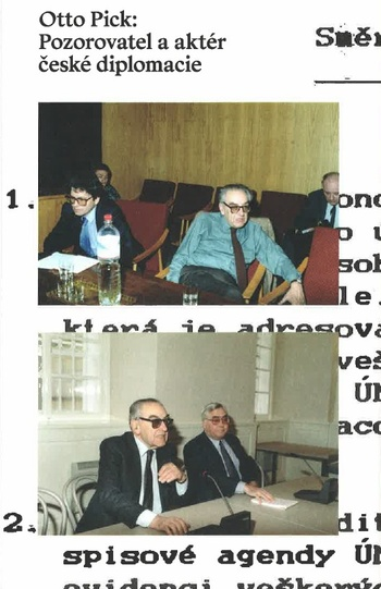 Otto Pick: Pozorovatel a aktér české diplomacie