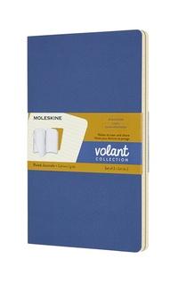Volant zápisníky Moleskine 2 ks linkovaný modrý a žlutý L