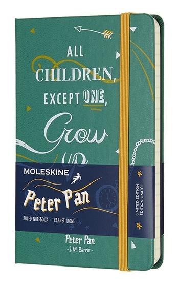 Peter Pan zápisník linkovaný, zelený S