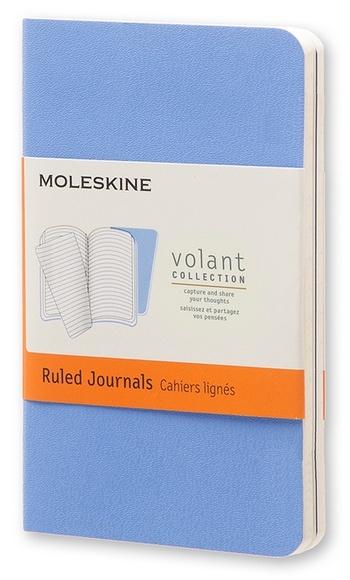 Volant zápisníky 2 ks linkované světle modré XS