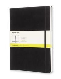 Zápisník, čistý, černý XL