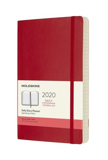 Diář Moleskine 2020 denní měkký červený L