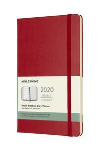 Plánovací zápisník Moleskine 2020 tvrdý červený L