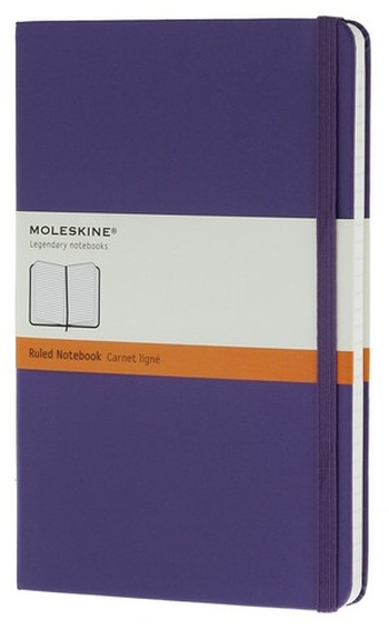 Zápisník, linkovaný, fialový L