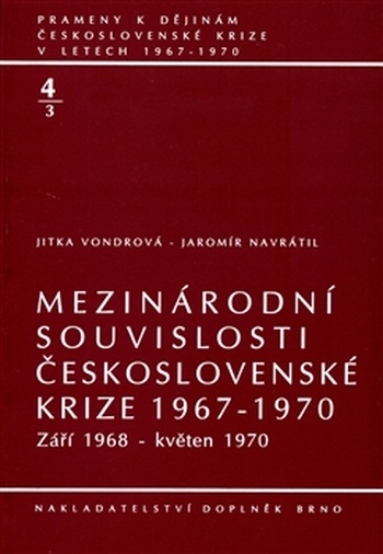 Mezinárodní souvislosti československé krize 1967-1970