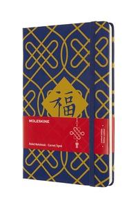 Čínský zápisník Moleskine linkovaný modrý L