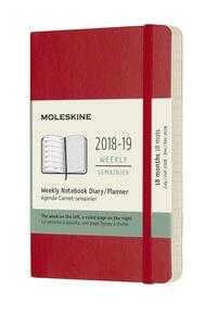 Plánovací zápisník Moleskine 2018-2019 měkký červený S