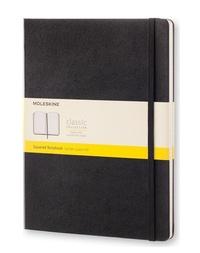 Zápisník, čtverečkovaný, černý XL