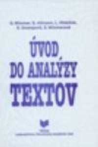 Úvod do analýzy textov